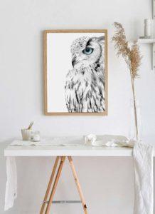 Plakat dżungla, a może sowa – co sprawdzi się w Twojej przestrzeni?